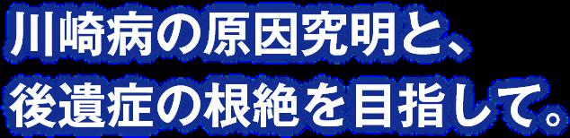 川崎病の原因究明と、後遺症の根絶を目指して。